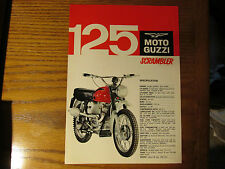 MOTO GUZZI 125cc SCRAMBLER DEALER LEAFLET BROCHURE PINUP