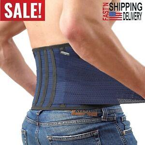 Lower Back Pain Lumbar Brace Support Men Core Waist Rigid Light Thin Belt Medium