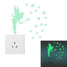 Magic Fairy Luminous Switch Wall Sticker Cartoon Kids Bedroom Home Decor TO