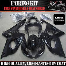 Black Fairing Kit For Suzuki GSXR1000 2000-2002 K1 ABS Injection Bodywork Set 01
