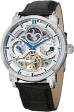 Stuhrling Original 371 01 Anatol Automatic Skeleton Dual Time AM PM Mens Watch
