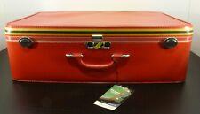 "New Vintage Amelia Earhart Stripes 30"" 10# Overseas RED Luggage Original Box"