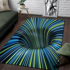 Tunnel Illusion Black Hole Area Rug Carpet