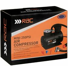 RAC Mini 250Psi Air Compressor For Vehicle Tyres Sporting & Camping Equipment