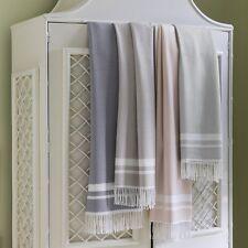 Sferra NIA KHAKI  Fringed Throw Blanket  Wool Silk Cashmere  ITALY - NEW!
