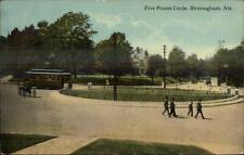 Birmingham AL Five Points Circle Trolley c1910 Postcard