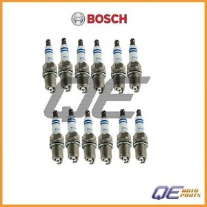 Set of 12 Spark Plug 6702 Bosch Platinum Fits: Hyundai Accent Azera Kia Optima