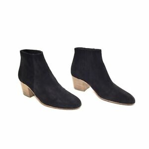 VINCE. Black Suede Haider Ankle Boots Size 9 M