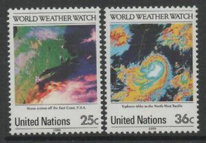 United Nations-New York 1989 World Weather Watch set of 2 MUH