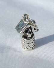 WISHING WELL FAIRY MAGIC 3D CHARM 925 STERLING SILVER
