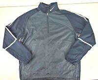 Nike Golf Mens 1/2 Zip Long Sleeve Pullover Windbreaker Jacket Black Size Large