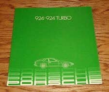Original 1982 Porsche 924 & 924 Turbo Deluxe Sales Brochure 82