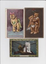 Vintage Postcards, Group of 5 Postaly Used featuring Teddy Bears.