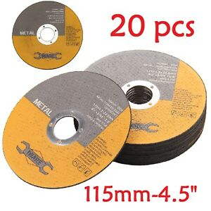20X ULTRA THIN METAL CUTTING SLITTING DISCS 115mm 4.5 INCH FOR ANGLE GRINDER