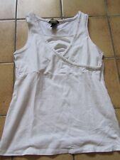 +++ weißes Umstandstop, Umstandsshirt von H&M Gr. S  +++