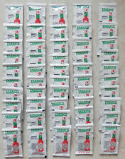 50 Tabasco Pepper Sauce Single Serve Packages 0.13 Ounce/Pack Enough Spicy Taste
