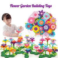 Kids Flower Interlo cking Garden Building Toy Arrangement Educational Toys Gifts