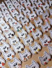 Lot of 20 pairs Mix Korean mini cute earring (white cat) ~