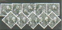 #2592 USED United States wholesale Lot of 10 $5.00 Washington Jackson Stamps