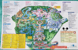 1999 Magic Kingdom Jumbo Fold Out Guidemap - Loaded With Extinct Attractions
