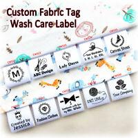 Custom Design Clothing Label Wash Care Hanging Tag Sew On Garment Fabric Bag DIY