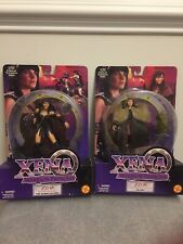 """Lot Of 2 - Vintage 1999 Xena Warrior Princess 6"""" Action Figures By Toy Biz"""