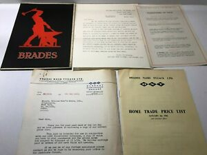 1949 price list BRADES  TOOLS home trade list number 240 1961 price list letters