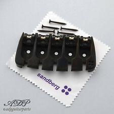 SANDBERG BASS BRIDGE Adjustable 5 STRING Spacing LockSaddles BLACK EXPORT