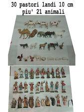30 pastori landi 10 cm piu 21 animali moranduzzo presepe crib shepherds