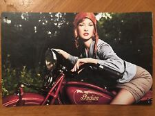 Tin Sign Vintage Indian Scout Motorcycles With Model