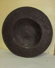 Unusual Mid Century Modern Bronze Plated Cast Iron Charger Brutalist