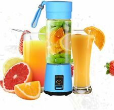 Portable Electric Juicer Cup USB Rechargeable Personal-size Blender Blue