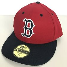 Boston Red Sox New Era 59Fifty 7 5/8 Fitted Low Crown Embroidered Baseball Hat