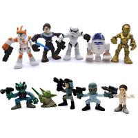 Lot 10 Pcs Playskool Star Wars Galactic Heroes Yoda Stormtrooper collect toy
