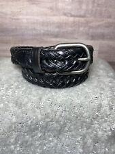 Size S ~ Boy's Belt Black Braided Leather