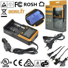 BORUiT Intelligente 2 Kanal LCD Ladegerät Für Premium Lithium 18650 26650 AA AAA