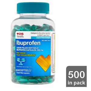 CVS Health  Ibuprofen Liquid Filled Softgels, 200mg NSAID Pain / Fever  500 CT