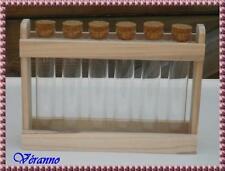 Support en bois pour 6 tubes à essais