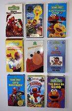 Lot of Nine Sesame Street and Elmo VHS Tapes