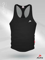 PIMD Essential Male Vest Black/ White Gym Stringer Muscle Mens S M L XL NEW