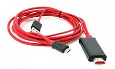 MHL to HDMI Cable adapter For SAMSUNG GALAXY S2 I9100 I9110 - 2M/6FT 1080P/HD