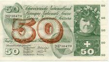 SUISSE SWITZERLAND SWISS SCHWEIZ 50 Frs 21-01-1965 VF+ état voir scan 479