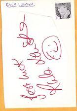 Rula Lenska-signed slip of paper-33