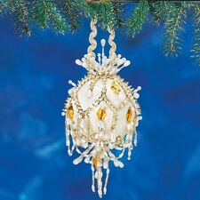 """Diamonds & Pearls"" #49 Kit makes 1 Collector Ornament, styrofoam Beads,Sequin"