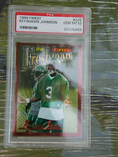 1996 Topps Finest Football Keyshawn Johnson RC #225 PSA 10 GEM MT