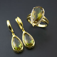 Color Change Diaspore Jewelry Sets 925 Sterling Silver Sultanit Ring Earrings