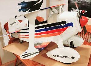 Vintage Oshkosh - Eagle Pedal Plane by Aviation Pro. Bi Plane Kiddie Pedal
