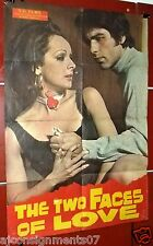 "The Two Faces of Love (Anna Fonsou) 39x27"" Original Greek Movie Poster 70s"