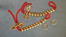 Dorje Bell Mala Buddhist Prayer Bead Counters Metal Gold-color