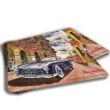 TWO RUGS Vintage Mercedes Benz 300SL Advertisment Design Bathroom Kitchen Mat